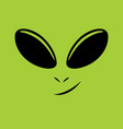 alien face vector image vector image