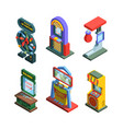 arcade game machine isometric trainers set gaming vector image vector image