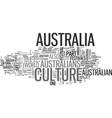 australia culture text word cloud concept vector image vector image