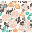 Beautiful flower seamless pattern vector image vector image