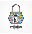 Beauty and fashion icon with handbag vector image vector image