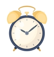 Bedside clock icon in cartoon style isolated on