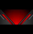 black and red abstract tech geometric glossy vector image vector image