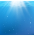 Blue under water background Rays of light vector image vector image
