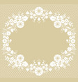 card with lace frame vector image vector image