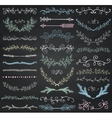 Chalk Drawing Floral Dividers Arrows vector image vector image