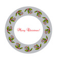 christmas holly tree wreath vector image vector image