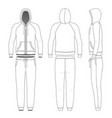 clothing set man hoodie and pants vector image vector image