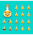 Collection of difference emoticon bottle test tube vector image vector image