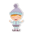 color image with gnome blonde boy vector image vector image