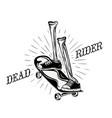 dead rider logo vector image