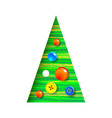 decorated christmas tree with sewing button vector image