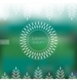 Eco design with blurry background and floral frame vector image vector image