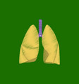 flat shading style icon lungs and trachea vector image vector image