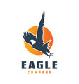 flying eagle logo design vector image
