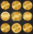 Golden Premium Quality Best Labels Medals vector image