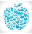 group of people make apple shape stock vector image vector image