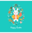 Happy easter 11 vector image vector image