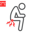 hemorrhoids line icon anus pain and constipation