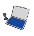 ink pad with rubber stamp vector image vector image