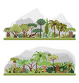 jungle trees collection tropical jungle vector image