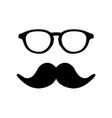 man glass and mustache image vector image vector image