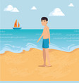 Man walking along the beach design