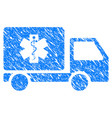 medical delivery grunge icon vector image