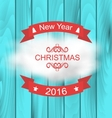 Merry Christmas Typography Lettering Design vector image vector image