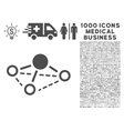 Molecule Icon with 1000 Medical Business vector image