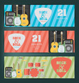 music banner background vector image vector image