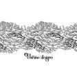 Ocean line art design vector image