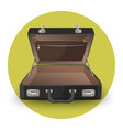 open briefcase or suitcase with inside pocket on vector image vector image