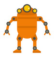 orange abstract robot icon isolated vector image vector image