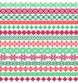 ornate christmas borders vector image vector image
