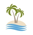 palm logo isolated vector image vector image