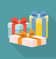 present boxes vector image