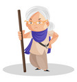 punjabi woman cartoon character vector image