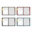 realistic detailed 3d empty template organizer vector image