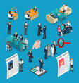 recruitment hiring hr management isometric people vector image vector image