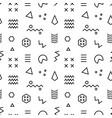 retro memphis seamless pattern vector image