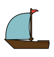 sailboat with flag icon image vector image vector image