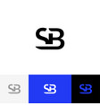 sb monogram logo from letters s and b vector image vector image