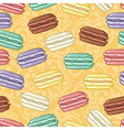 Seamless macaroons pattern vector image vector image