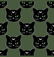 seamless pattern background with black cat faces vector image vector image