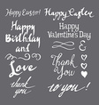 Set of greeting inscriptions vector image vector image