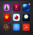 Set of icons stylized like mobile app vector image vector image