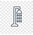 shower concept linear icon isolated on vector image
