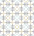 Snow Flakes Ornament Seamless Pattern vector image