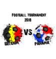 soccer game belgium vs panama vector image vector image